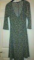 BoHo V neck polyester mix dress or tunic multi coloured by Soprano  size XL