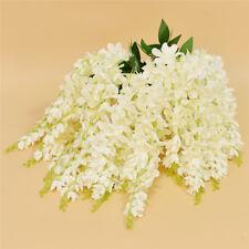 Romantic Artificial Fake White Wisteria Garland Flower Hanging Wedding Decor