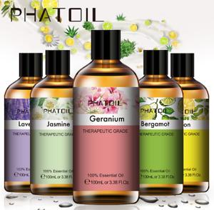 Essential Oils 100ml Aromatherapy Undiluted Oil Organic Aroma Diffuser Burner