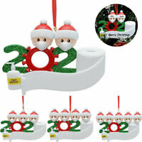 2020 Christmas Lovely Hanging Ornaments Family Personalized Resin Xmas Decor A++