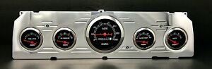 1964 1965 1966 Chevy Truck 5 Gauge Dash Panel Insert Set Mechanical Black