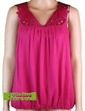 Waist Length Lace V Neck Sleeveless Tops & Shirts for Women