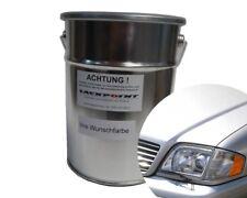 1 L spritzfertigen Eau Laque De Base Mercedes 744 Argent Métallique Peinture