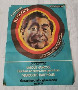 "VERY RARE ORIGINAL AUTHENTIC TONY HANCOCK 1973 BBC COMEDY POSTER 20"" X 15"" PROP"