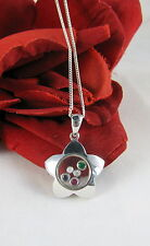 Sterling Silver Sparkling Star / Flower 9g Necklace Feral Cat Rescue