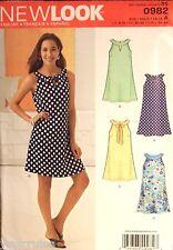 Miss New Look 0982 6262 Pattern Retro A-Line Dress UNCUT Size 8-10-12-14-16-18