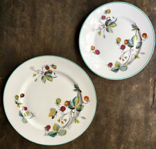 """Royal Worcester STRAWBERRY FAIR """"OVEN TO TABLE"""" Salad & Bread Plates NICE!!"""