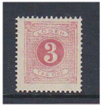 Sweden - 1888, 3 ore Bright Carmine Postage Due (Perf 13) - M/M - SG D28b