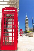 Pack of 6 NEW London Postcards, Red Telephone Box, Big Ben, Travel, City 30K