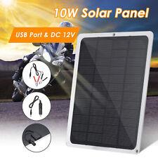 DC12V 10W Pannello Solare Caricabatterie Da Auto USB Portatile Per Esterno S9B1