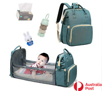 Baby Bed Bag Crib Cot Travel Carrier Nappies Diaper Backpacks Folding Mommy Bag
