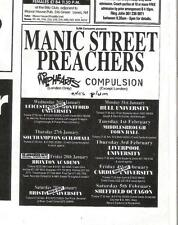 More details for manic street preachers wildhearts tour magazine advert/mini poster 3x3 inches