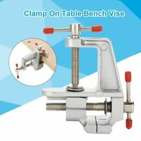 Aluminum Small Jewelers Hobby Clamp On Table Bench Vise Mini Tool Vice New