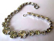 bracelet bijou vintage cristal diamant Swarovski à facette couleur argent  229