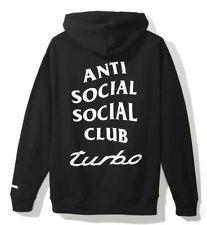 ANTI SOCIAL SOCIAL CLUB x NEIGHBORHOOD 911 BLACK HOODIE, LARGE,
