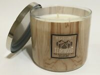 NEW BATH BODY WORKS MAHOGANY TEAKWOOD SCENTED 3-WICK 14.5 OZ LARGE FILLED CANDLE