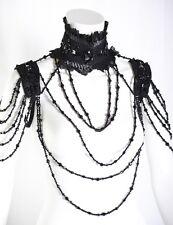 Gothique burlesque collier avec collier de perles CHOKER victorian rq-BL