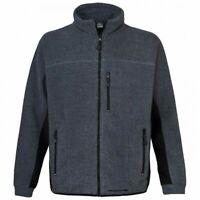 TRESPASS Mens Grey & Black Ribbed Oak Full Zip Thermal Fleece Jacket XS BNWT