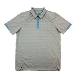 Oakley Hydrolix Men's Polo Shirt Golf T-Shirt Grey Size L/G