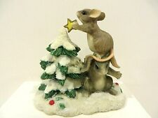 Charming Tails Two Mice Decorating A Christmas Tree Figurine