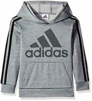 ADIDAS BOY'S ATHLETIC PULLOVER HOODIE - GREY SIZE XL(18/20) STYLE AA6101