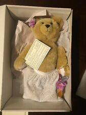 """Annette Funicello Collectible Bear #C15724 - Peanut Butter 14"""" Ht Orig Box New"""