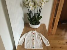 girls knitted jumper with buttons age-7