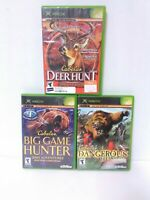 3 Cabela's Original XBOX Hunting Games - Tested, Working, Fast Shipping!