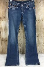 True Religion Jeans Womens Size 25 Billy Super T Flap Pocket Medium Wash Bootcut