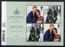 GB 2018 MNH Prince Harry & Meghan Markle Royal Wedding 4v M/S Royalty Stamps