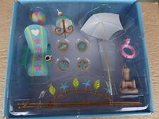 Miniature Fairy Garden Sand Castle Beach Chair Umbrella Outdoor Yard Lawn Decor