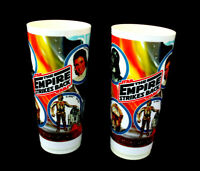 1980 Star Wars Empire Strikes Back Deka Plastic Cup 6 1/2 Inch Lot of 2