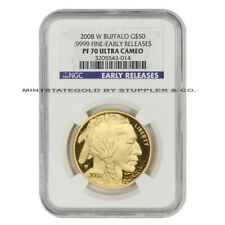 2008-W $50 Gold Buffalo NGC PF70UCAM Early Releases Ultra Cameo Bullion Proof