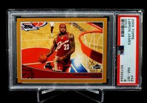 2009 Topps Lebron James Gold #'d 1191/2009 PSA 8 Cavs Heat Lakers