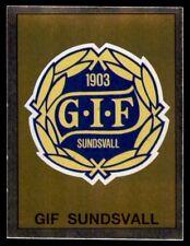Panini Fotboll 91 (Sweden) Badge GIF Sundsvall No. 169
