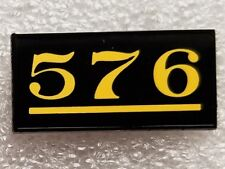 NC&StL RAILROAD STEAM LOCOMOTIVE 576 ALCO 4-8-4 NUMBER PLATE PIN. NEW! L&N