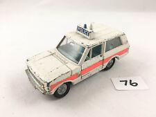 VINTAGE DINKY # 254 POLICE RANGE ROVER ORIGINAL DIECAST CAR 1971-75 PLAYWORN