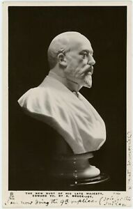 c1912 | Albert Bruce-Joy sculptor signed postcard of famous King Edward VII bust