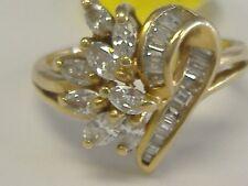 VINTAGE  14K DIAMOND  COCKTAIL  HEART RING 1.10CT TW  SIZE 7,25