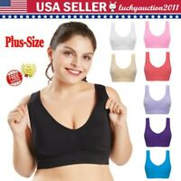 Plus-Size Women Seamless With Chest Pad Adjustment Soft No Steel Ring Sports Bra