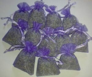 15 DRIED  LAVENDER BAGS-MOTH REPELLENT-HAND MADE