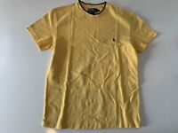 VTG Polo by Ralph Lauren Shirt Men's Pique Knit T Shirt Size Small Yellow