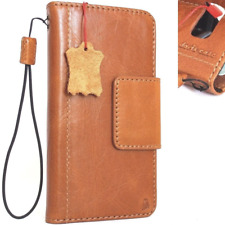 genuine leather Case for Samsung Galaxy S8 book wallet cover magnet thin Davis R