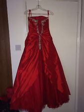 dress190 Red Full Length Formal Ballgown Prom Wedding Bridesmaid Evening Dress