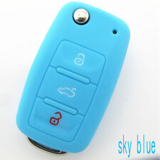 Car Silicone 3Button Key Cover Case Shell For VW Golf Bora Jetta POLO GOLF Skoda