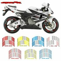12PCS Motorcycle wheel Stickers Decorated reflective Decals For Honda CBR RR
