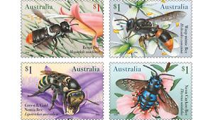MUH Australian Native Bees 2019 Sheet Stamp Set