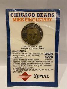 Commemorative 1992 Sprint WGN Coin Mike SIngletary Chicago Bears