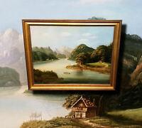 Wundervolle Biedermeier Landschaft. Antikes Ölgemälde um 1880 Stil A. FORSTMANN