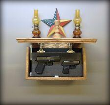 """18"""" X 10"""" Oak  Hidden Compartment Tactical Gun Concealment Shelf"""
